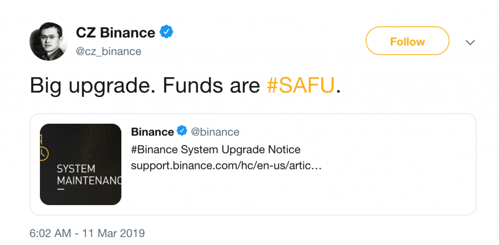 , Breaking: Binance Will Be Down Tomorrow
